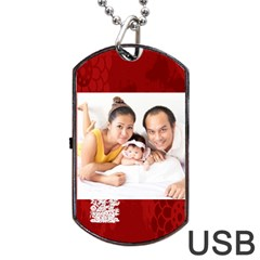 Chinese New Year By Ch   Dog Tag Usb Flash (two Sides)   2g9b03x4fxor   Www Artscow Com Front