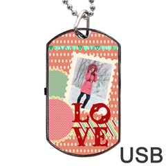 Love By Ki Ki   Dog Tag Usb Flash (two Sides)   Zduytqsfxfmr   Www Artscow Com Front