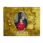 Golden Love XL cosmetic bag - Cosmetic Bag (XL)