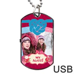 Love By Ki Ki   Dog Tag Usb Flash (two Sides)   8qox3lpa4jz4   Www Artscow Com Front