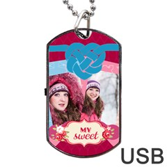 Love By Ki Ki   Dog Tag Usb Flash (two Sides)   8qox3lpa4jz4   Www Artscow Com Back