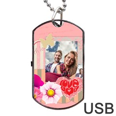Love By Ki Ki   Dog Tag Usb Flash (two Sides)   4m1kmgq51r2t   Www Artscow Com Front