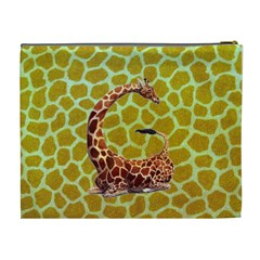 Giraffe Xl Cosmetic Bag By Joy Johns   Cosmetic Bag (xl)   Tbwy83vgqoi6   Www Artscow Com Back