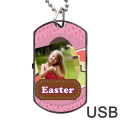 Easter By Easter   Dog Tag Usb Flash (two Sides)   47lv9fuh4ky9   Www Artscow Com Front