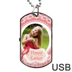 Easter By Easter   Dog Tag Usb Flash (two Sides)   2dasbucdf4k3   Www Artscow Com Front
