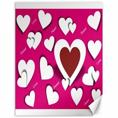 Valentine Hearts  Canvas 18  X 24  (unframed) by Colorfulart23