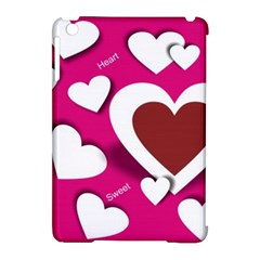 Valentine Hearts  Apple Ipad Mini Hardshell Case (compatible With Smart Cover) by Colorfulart23