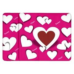 Valentine Hearts  Samsung Galaxy Tab 8 9  P7300 Flip Case by Colorfulart23