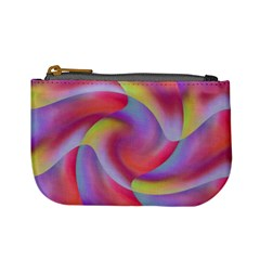 Colored Swirls Coin Change Purse by Colorfulart23