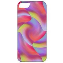 Colored Swirls Apple Iphone 5 Classic Hardshell Case by Colorfulart23