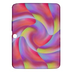 Colored Swirls Samsung Galaxy Tab 3 (10 1 ) P5200 Hardshell Case  by Colorfulart23