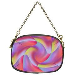 Colored Swirls Chain Purse (One Side)