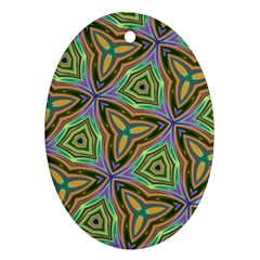 Elegant Retro Art Oval Ornament (two Sides) by Colorfulart23