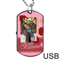 Love By Ki Ki   Dog Tag Usb Flash (two Sides)   V3ddvpdu8617   Www Artscow Com Back