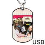 love - Dog Tag USB Flash (Two Sides)