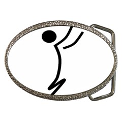 Cowcow Football Black Belt Buckle (Oval) by retest
