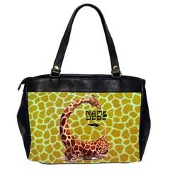 Giraffe Oversize Office Bag By Joy Johns   Oversize Office Handbag (2 Sides)   Bi94elgw2fsm   Www Artscow Com Back