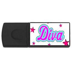 Pink Diva 1GB USB Flash Drive (Rectangle)