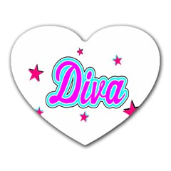 Pink Diva Mouse Pad (heart)