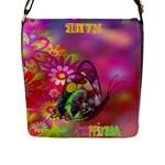 Spring Joy flap closure messenger bag - Flap Closure Messenger Bag (L)