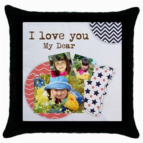 Kids By Kids   Throw Pillow Case (black)   12agqvplu90f   Www Artscow Com Front