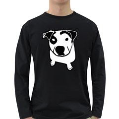 Pit Bull T Bone Men s Long Sleeve T Shirt (dark Colored) by Contest1657721