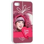 love - Apple iPhone 4/4s Seamless Case (White)