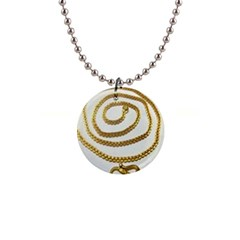 Gold Chain Button Necklace