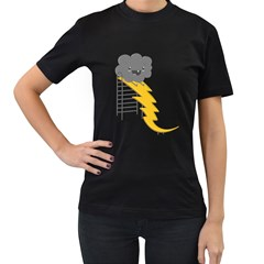 Ride The Lightning! Women s T-shirt (Black) by Contest1861806