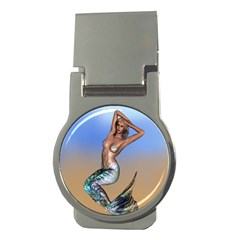 Sexy Mermaid On Beach Money Clip (round) by goldenjackal
