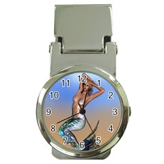Sexy Mermaid On Beach Money Clip With Watch by goldenjackal