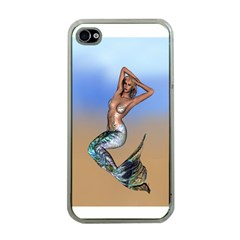 Sexy Mermaid On Beach Apple Iphone 4 Case (clear) by goldenjackal
