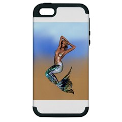 Sexy Mermaid On Beach Apple Iphone 5 Hardshell Case (pc+silicone) by goldenjackal