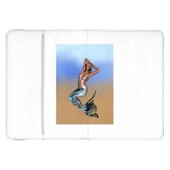 Sexy Mermaid On Beach Samsung Galaxy Tab 8 9  P7300 Flip Case by goldenjackal