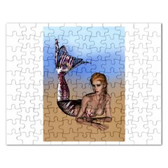 Mermaid On The Beach  Jigsaw Puzzle (rectangle) by goldenjackal