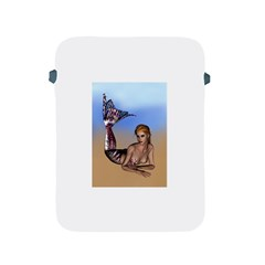 Mermaid On The Beach  Apple Ipad Protective Sleeve by goldenjackal