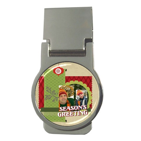 Xmas By Merry Christmas   Money Clip (round)   Aznbysdamcsl   Www Artscow Com Front