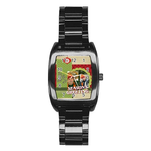 Xmas By Merry Christmas   Stainless Steel Barrel Watch   08y8fiy1pjet   Www Artscow Com Front