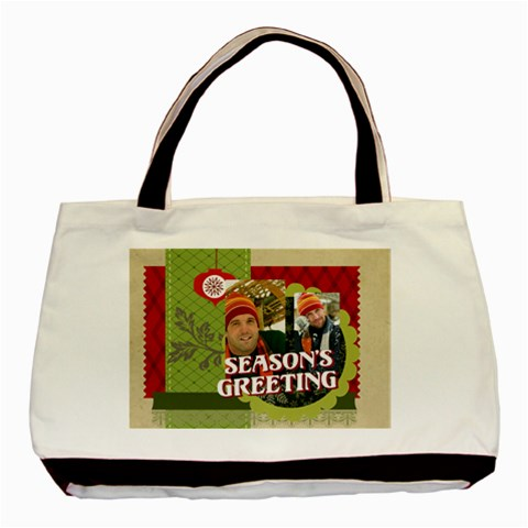 Xmas By Merry Christmas   Basic Tote Bag   Kr691mfursni   Www Artscow Com Front