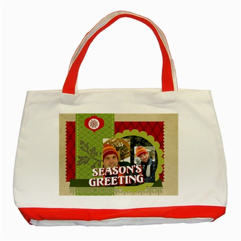Xmas By Merry Christmas   Classic Tote Bag (red)   4uebfy25hsl8   Www Artscow Com Front