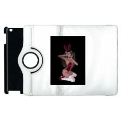 Miss Bunny In Red Lingerie Apple Ipad 3/4 Flip 360 Case by goldenjackal