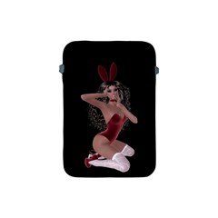 Miss Bunny In Red Lingerie Apple Ipad Mini Protective Sleeve by goldenjackal