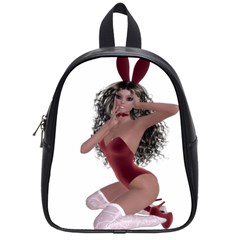 Miss Bunny In Red Lingerie School Bag (small) by goldenjackal