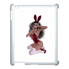 Miss Bunny In Red Lingerie Apple Ipad 3/4 Case (white) by goldenjackal