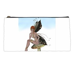 Fairy Sitting On A Mushroom Pencil Case by goldenjackal