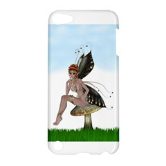 Fairy Sitting On A Mushroom Apple Ipod Touch 5 Hardshell Case by goldenjackal