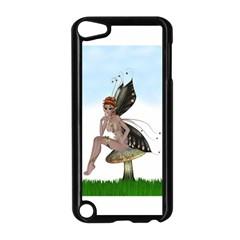 Fairy Sitting On A Mushroom Apple Ipod Touch 5 Case (black) by goldenjackal