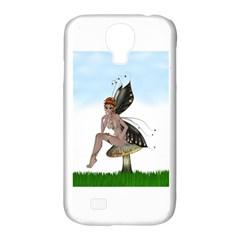 Fairy Sitting On A Mushroom Samsung Galaxy S4 Classic Hardshell Case (pc+silicone)