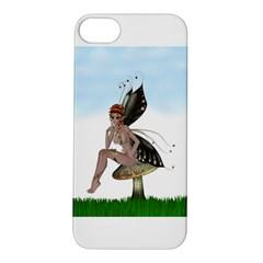Fairy Sitting On A Mushroom Apple Iphone 5s Hardshell Case by goldenjackal