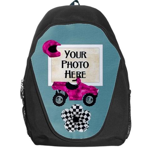 Let s Ride Backpack By Lisa Minor   Backpack Bag   Nbxnq9v6gabm   Www Artscow Com Front